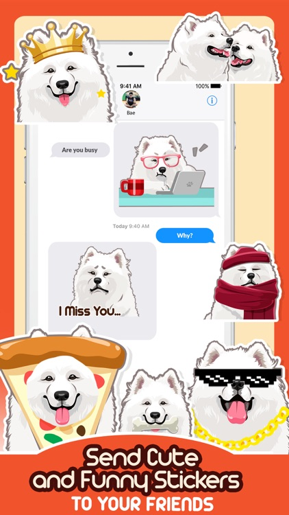 Samoyed Dog Emoji Sticker Pack screenshot-3