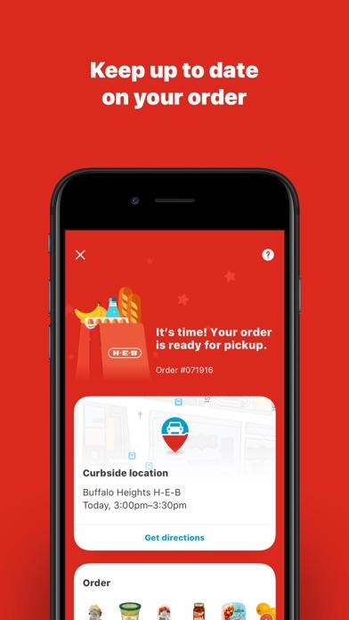 My H-E-B Screenshot on iOS