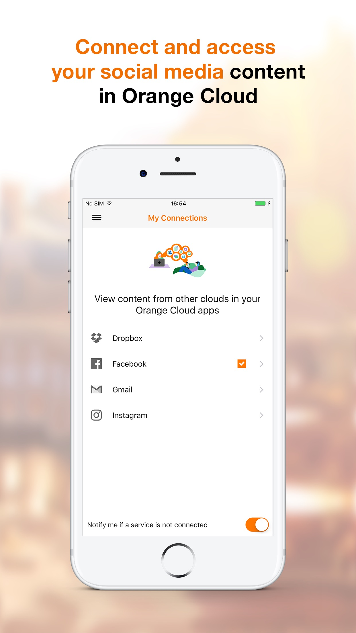 Orange Cloud Screenshot