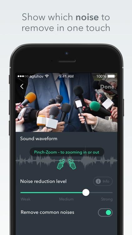 Denoise - audio noise removal screenshot-0