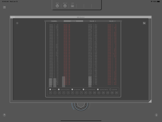 MIDI SWEET: MIDI Monitor2 (AU) screenshot 4