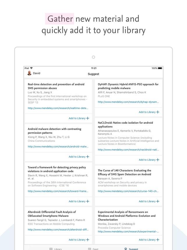 Mendeley (PDF Reader) on the App Store