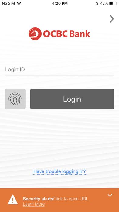 OCBC Malaysia Mobile Banking screenshot one