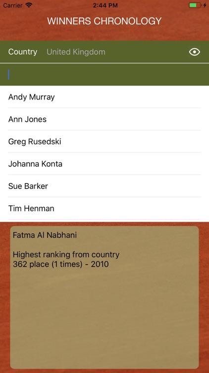 World Tennis Winners: Open Era screenshot-7