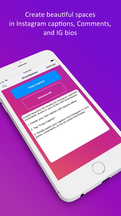 GramSpacer For Instagram by Andrew Lee