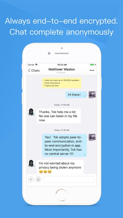 Tok - Encrypted Messaging