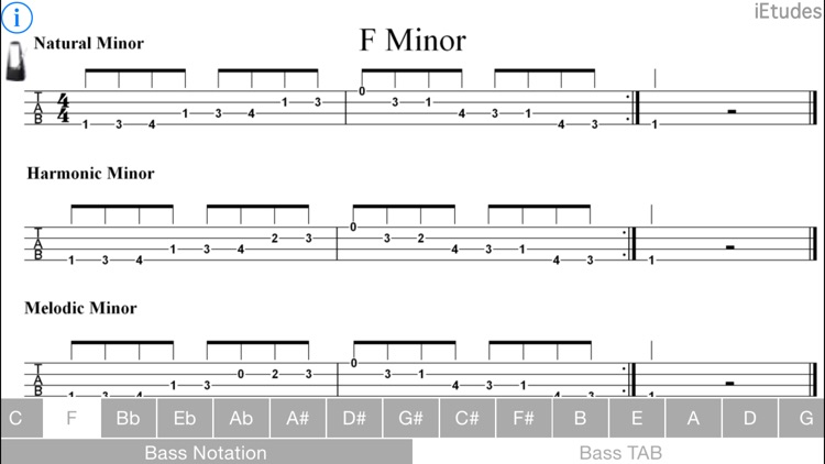 Minor Scales Bass Guitar screenshot-4