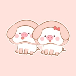 Dynamic cute pig