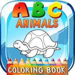ABC Animals Coloring Book