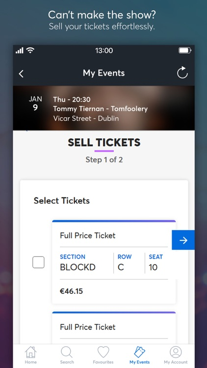 Ticketmaster IE screenshot-5