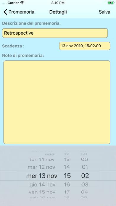 Screenshot of Organizzatore del progetto10
