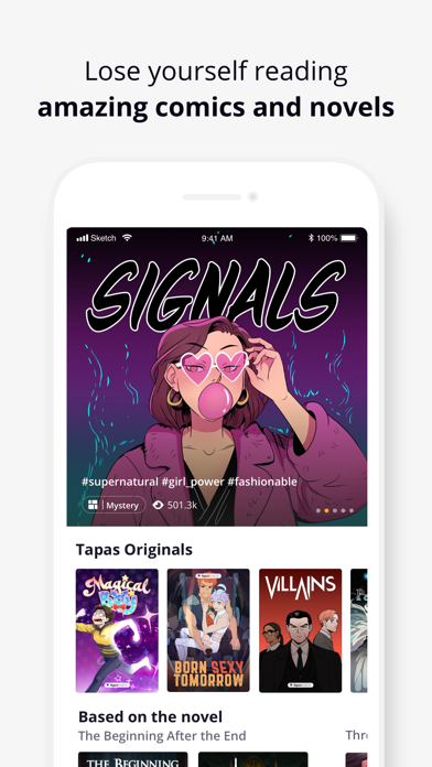 Screenshot for Tapas - Comics & Stories in Netherlands App Store