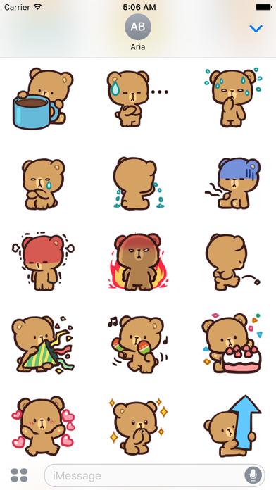 Cool Bear Mocha Daily Emoji screenshot 3