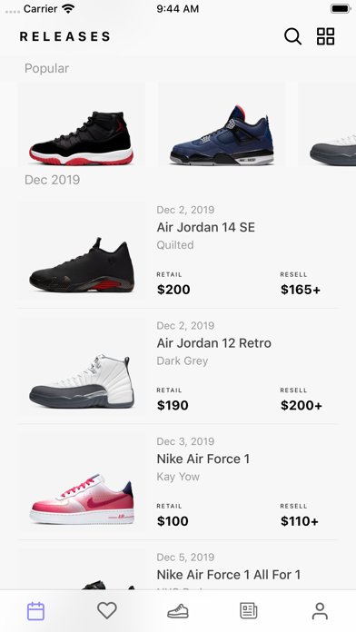 Sneaker Crush - Release Dates by New