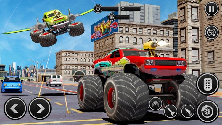 Flying Monster Truck Derby screenshot-3
