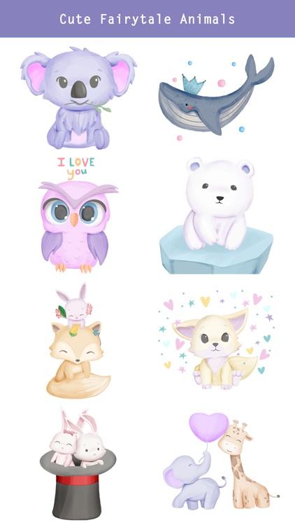 Fairytale Baby Animal Stickers screenshot-3
