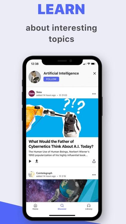 Listle - top stories, in audio screenshot-4
