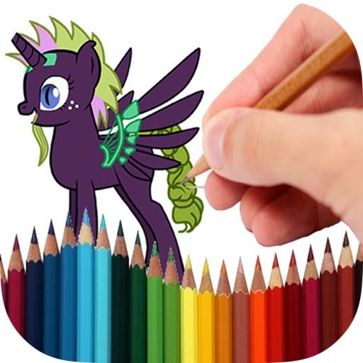 Книжка-раскраска Пони