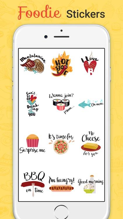Foodie Stickers Fun screenshot-3