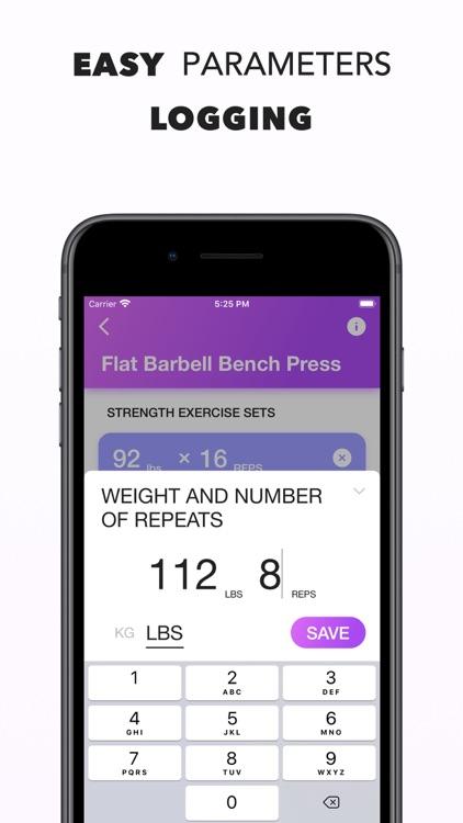 Workout Log   Fitness Tracker screenshot-3