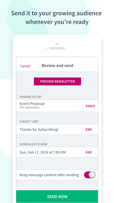 Screen Shot Curate: Simple Email Marketing 5