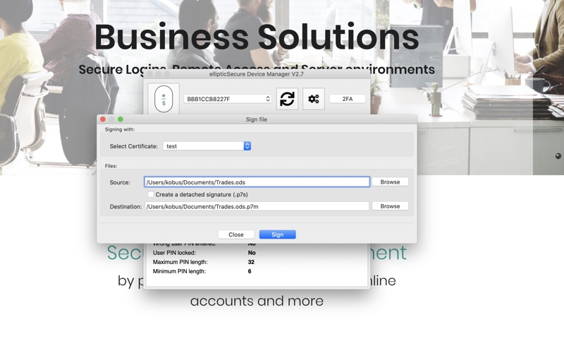ellipticSecure Device Manager скриншот программы 2