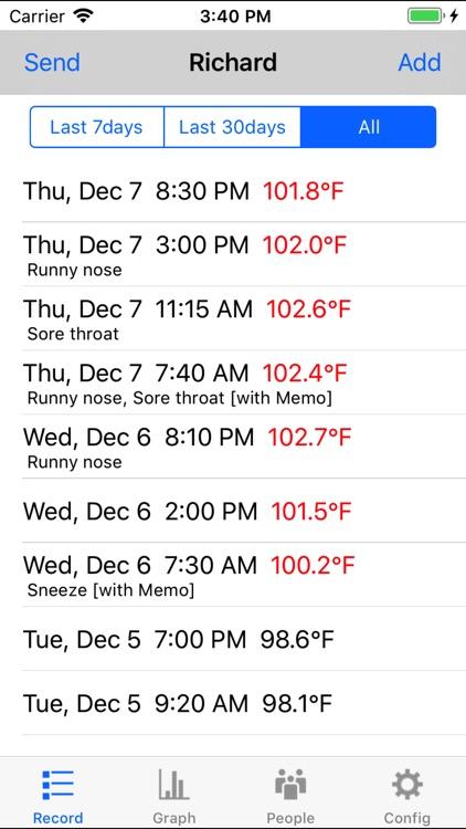 Body Temperature Recorder
