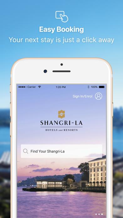 Shangri-La Hotels & Resorts screenshot one