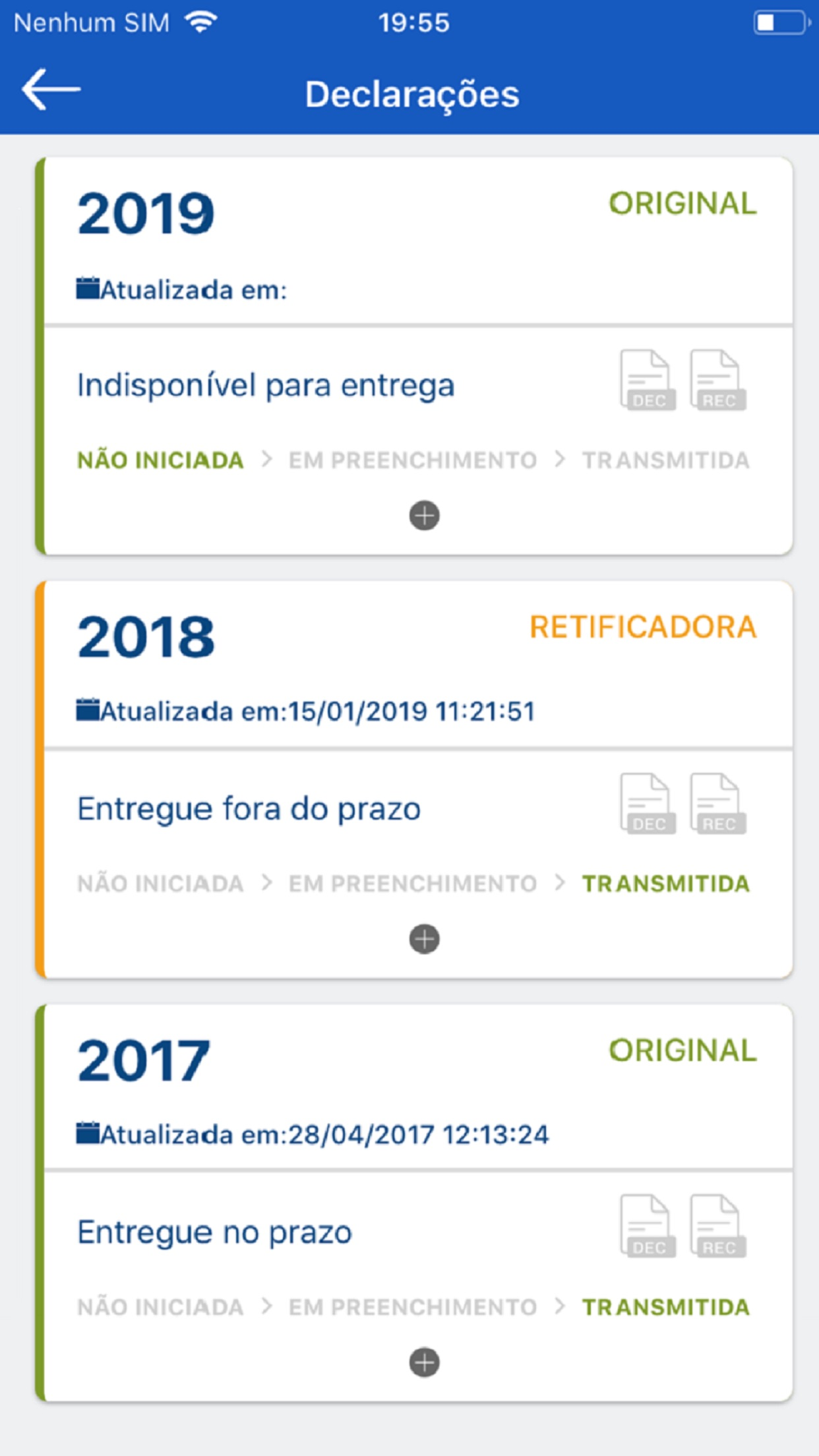 Screenshot do app Meu Imposto de Renda