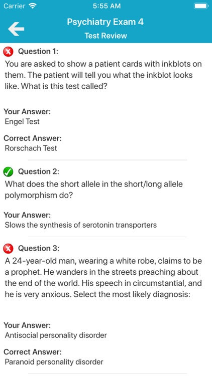 Psychiatry Exam Questions by Coskun CAKIR
