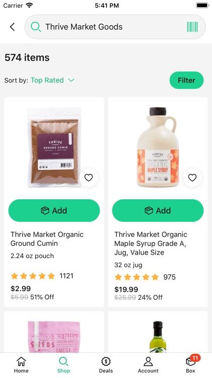 Thrive Market - shop healthy