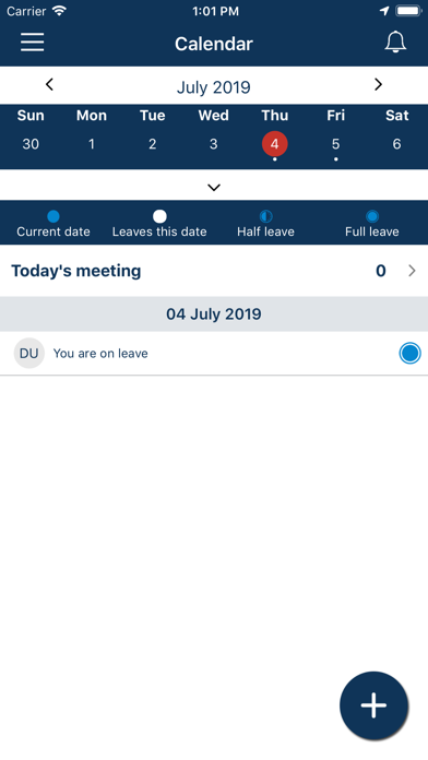 OC Holiday Tracker App screenshot one