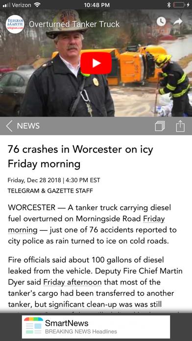 Worcester Telegram & Gazette Screenshot