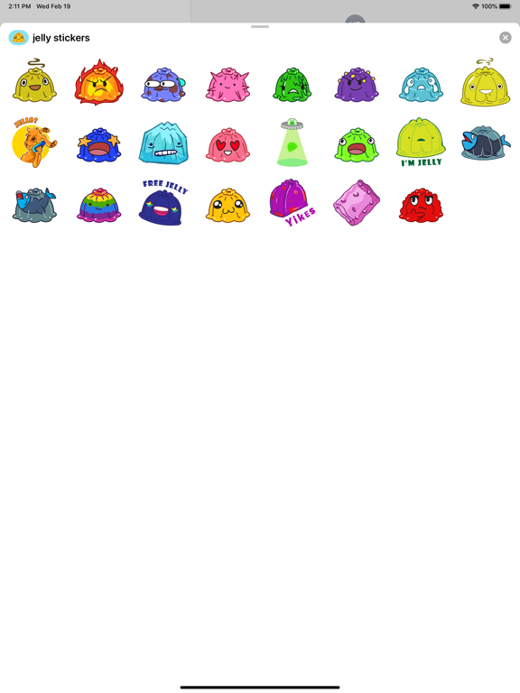 Jelly - Stickers for imessage screenshot 3