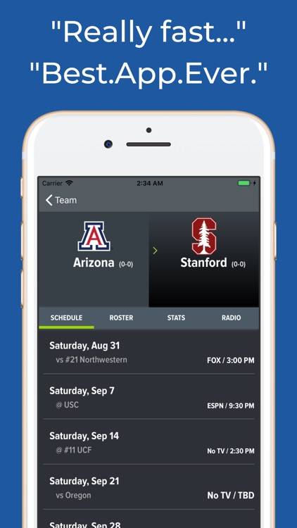 Arizona Football Schedules screenshot-8