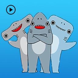 Animated Shark Man Bro Sticker