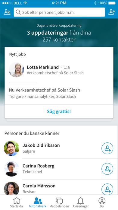 LinkedIn på PC