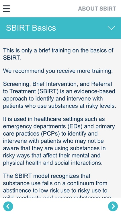 SBIRT for Health Professionals screenshot-3