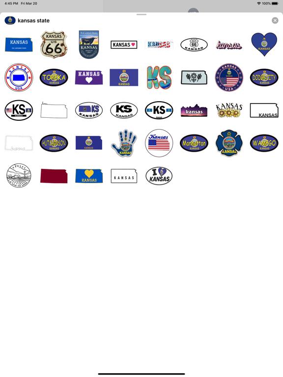 Kansas emoji - USA stickers screenshot 4