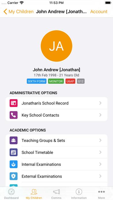iParent App screenshot one