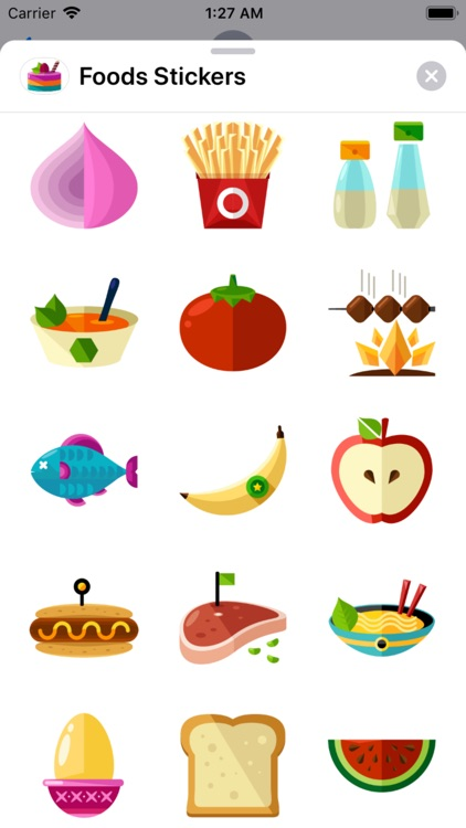 Foods Stickers