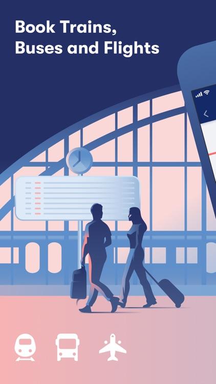 Omio: Book train, bus & flight screenshot-0