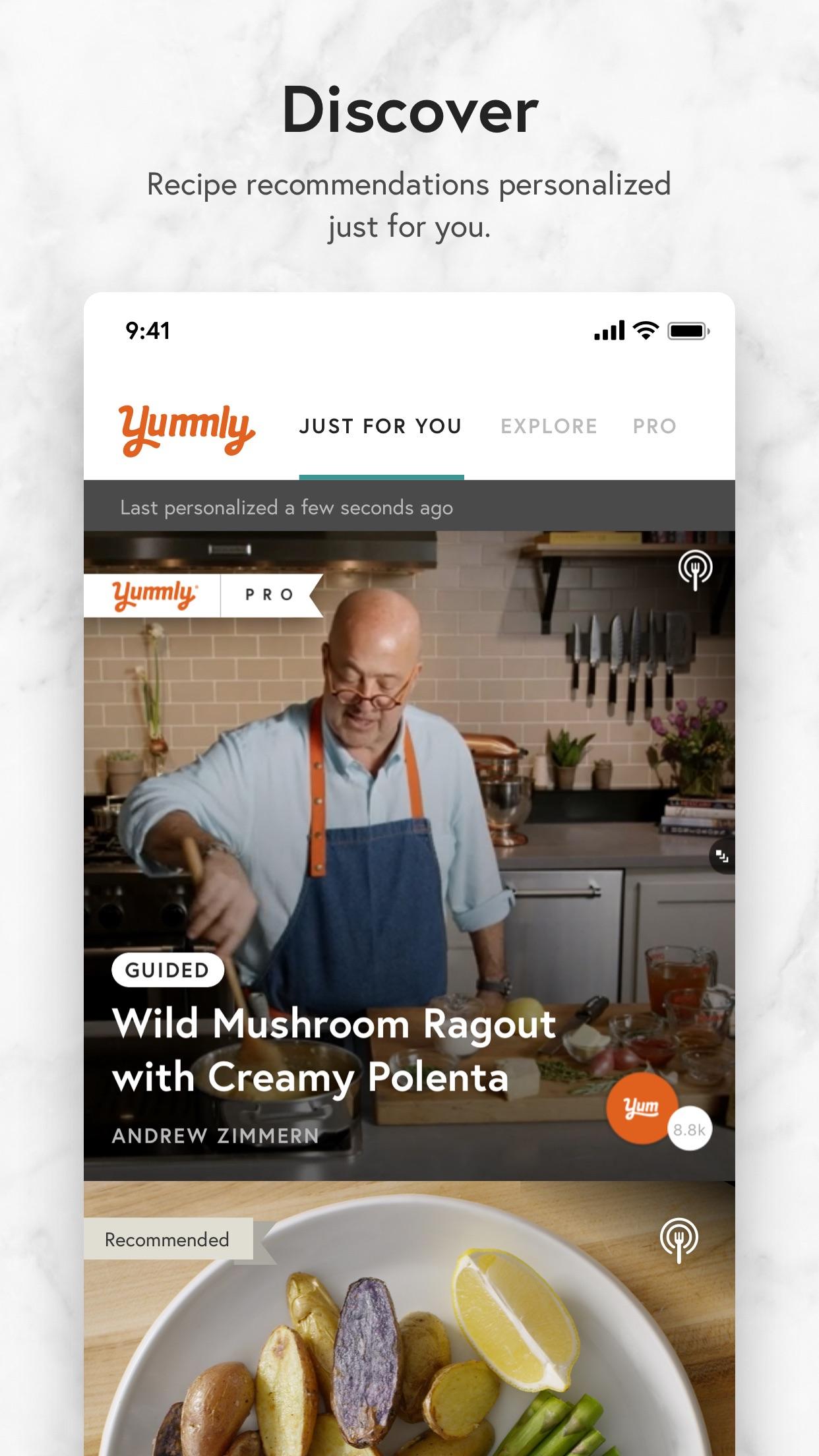 Yummly Recipes & Cooking Tools Screenshot