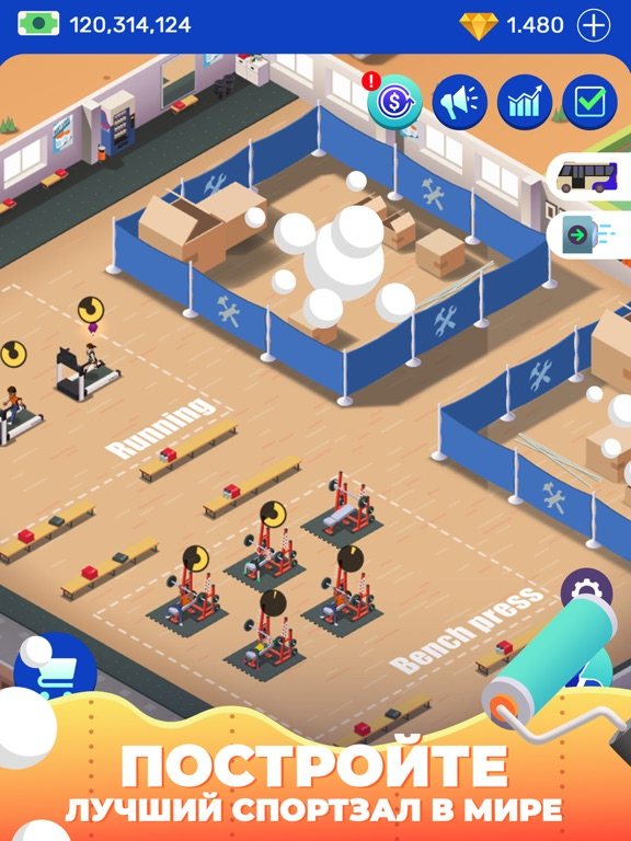 Игра Idle Fitness Gym Tycoon - Game