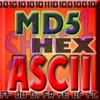 ASCII HEX BASE64 MD5 BIN コンバータ