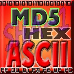 HEX ASCII BASE64 MD5 SHA conv.