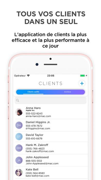 Screenshot #1 pour Clients — gérez vos clients