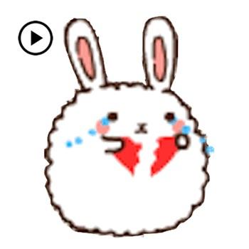 Animated Cute Chubby Bunny Logo