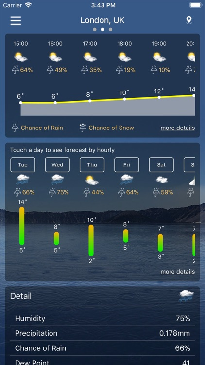 Weather : Weather forecast screenshot-1