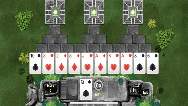 Three Magic Towers Solitaire